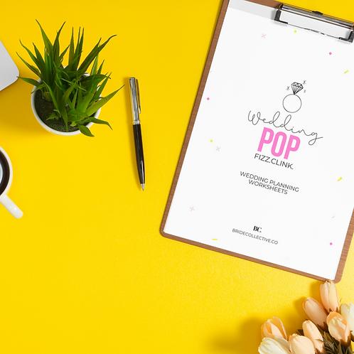 Pop Fizz Clink - Wedding Worksheets