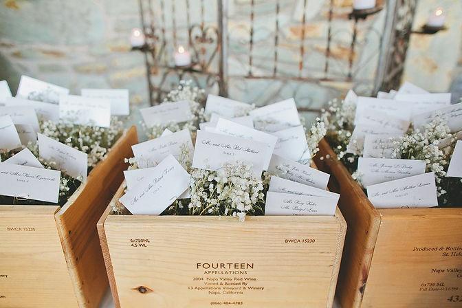 best wedding planner - austin tx - escort cards - wine box - weddingdaygirl.com