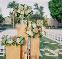 wedding ceremony aisle - wedding design - floral - wedding day girl - austin, tx