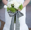 wedding floral and bridal bouquet white and black wedding dripping springs day of wedding coordinator coordinator