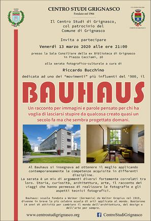 """[Evento rinviato] Conferenza fotografico-culturale """"Bauhaus"""" di Riccardo Bucchino"""