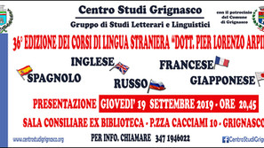 Presentazione corsi di lingua straniera ''Dott. Pier Lorenzo Arpino''