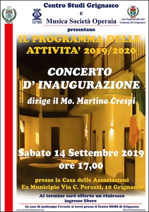 Concerto inaugurale delle attività 2019-2020
