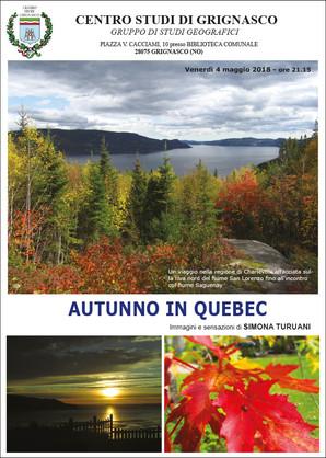 """Proiezione """"Autunno in Quebec"""" di Simona Turuani"""