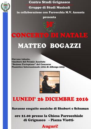 30° Concerto di Natale - Matteo Bogazzi
