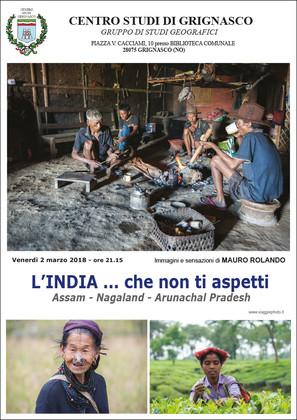 """Proiezione """"L'India ... che non ti aspetti"""" di Mauro Rolando"""