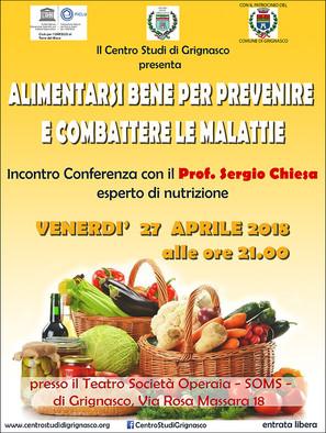 Incontro Conferenza con il Prof. Sergio Chiesa, esperto di nutrizione
