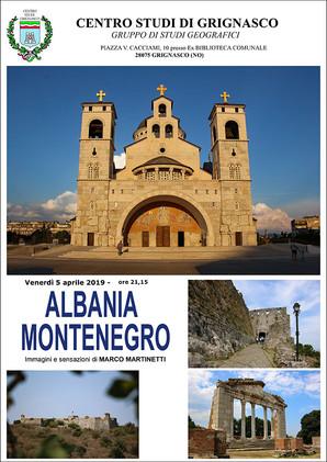 Proiezione Albania e Montenegro