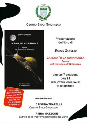 """Presentazione del libro """"La Bava 'd la curnagiòla"""" di Enrico Zanolini"""