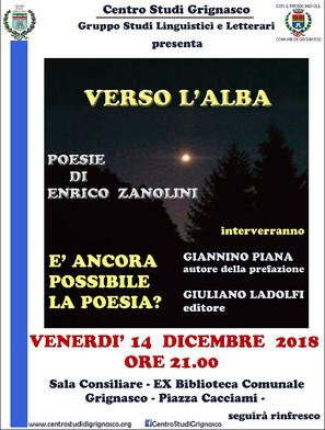 """""""Verso l'alba"""" - Poesie di Enrico Zanolini"""