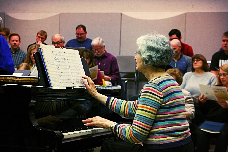 Lynn Kozlowski in Rehearsal