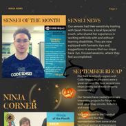 October (Halloween) Newsletter - A
