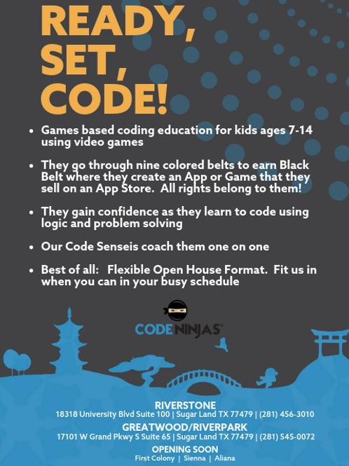 Ready Set Code Printable Flyer