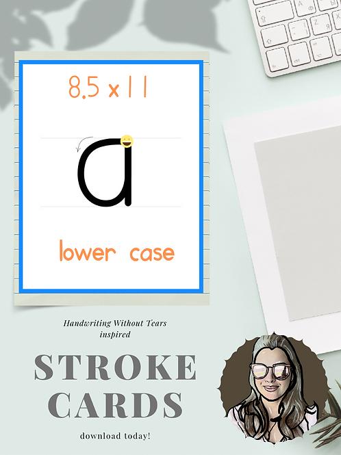Lower Case HWT Inspired Letters 8.5x11 Pencilmark