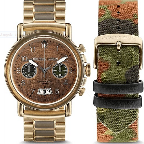 Original Grain Chronograph Military Watch 44mm