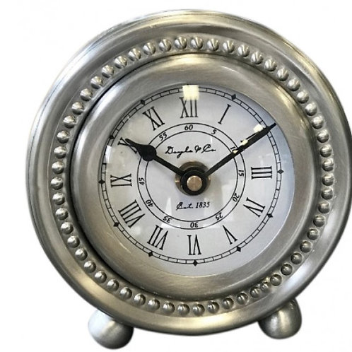 Studded Pewter Clock