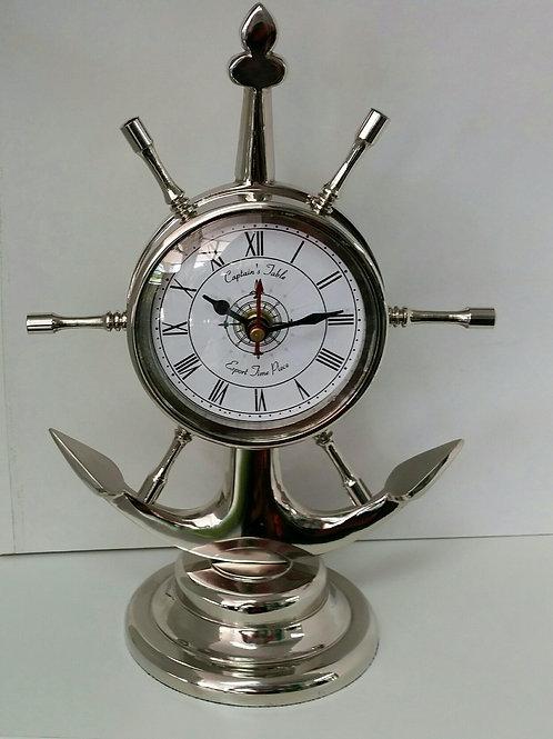 Clock-Ship Wheel and Anchor