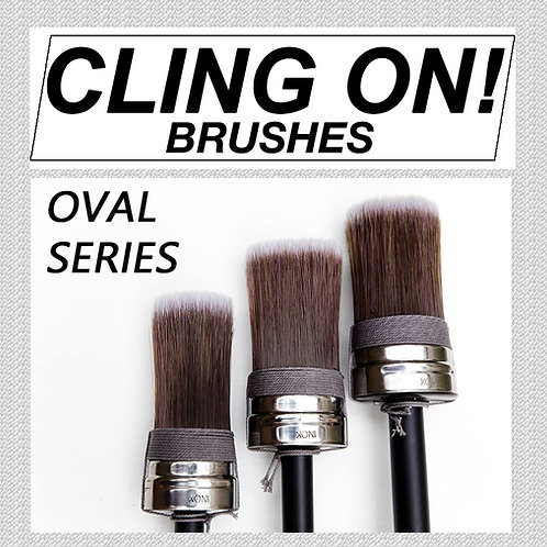 Cling On Paint Brush - Oval Series
