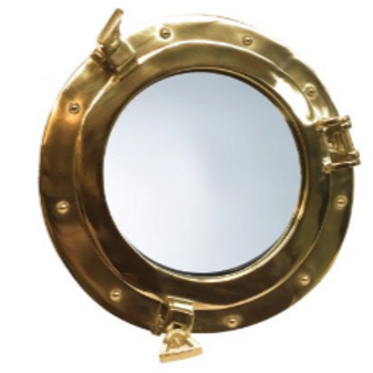 Brass Mirror port hole