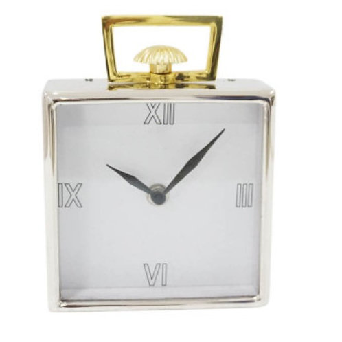 Clock Silver and Brass