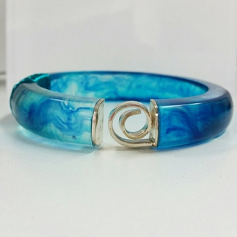 Liv Design Blue Swirl Bangle