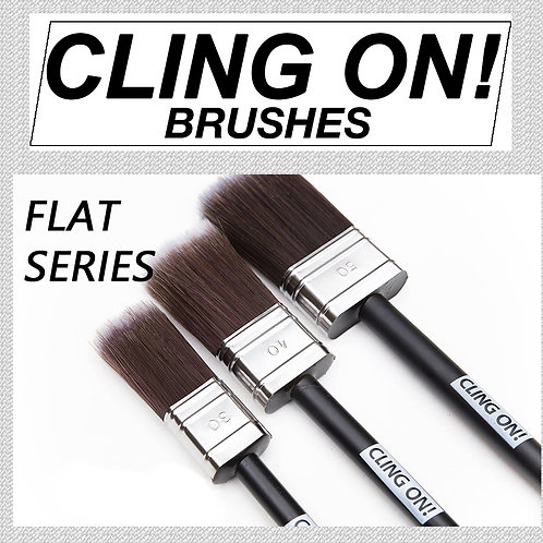 Cling On Paint Brush Flat Series