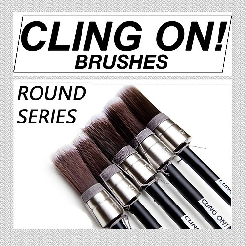 Cling On Paint Brush - Round Series
