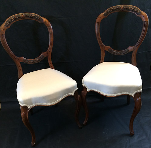 Pair of Balloon Back Dining Chairs