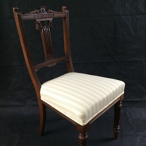 Victorian Oak Dining / Bedroom Chair