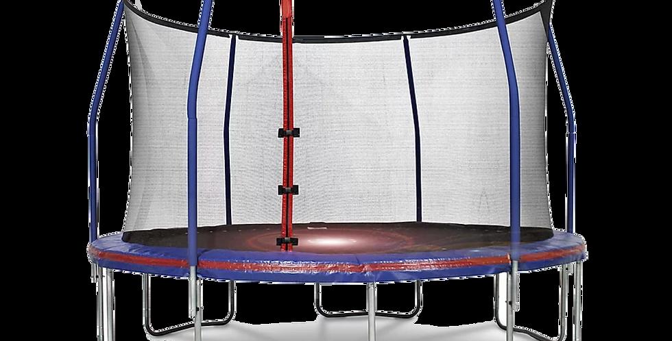 12ft Steelflex Pro Enclosure Trampoline with Flash Litezone