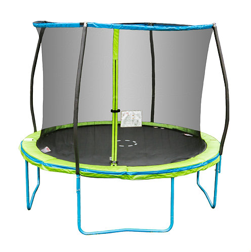 10ft Trampoline with Steelflex Pro Enclosure and Flash Litezone