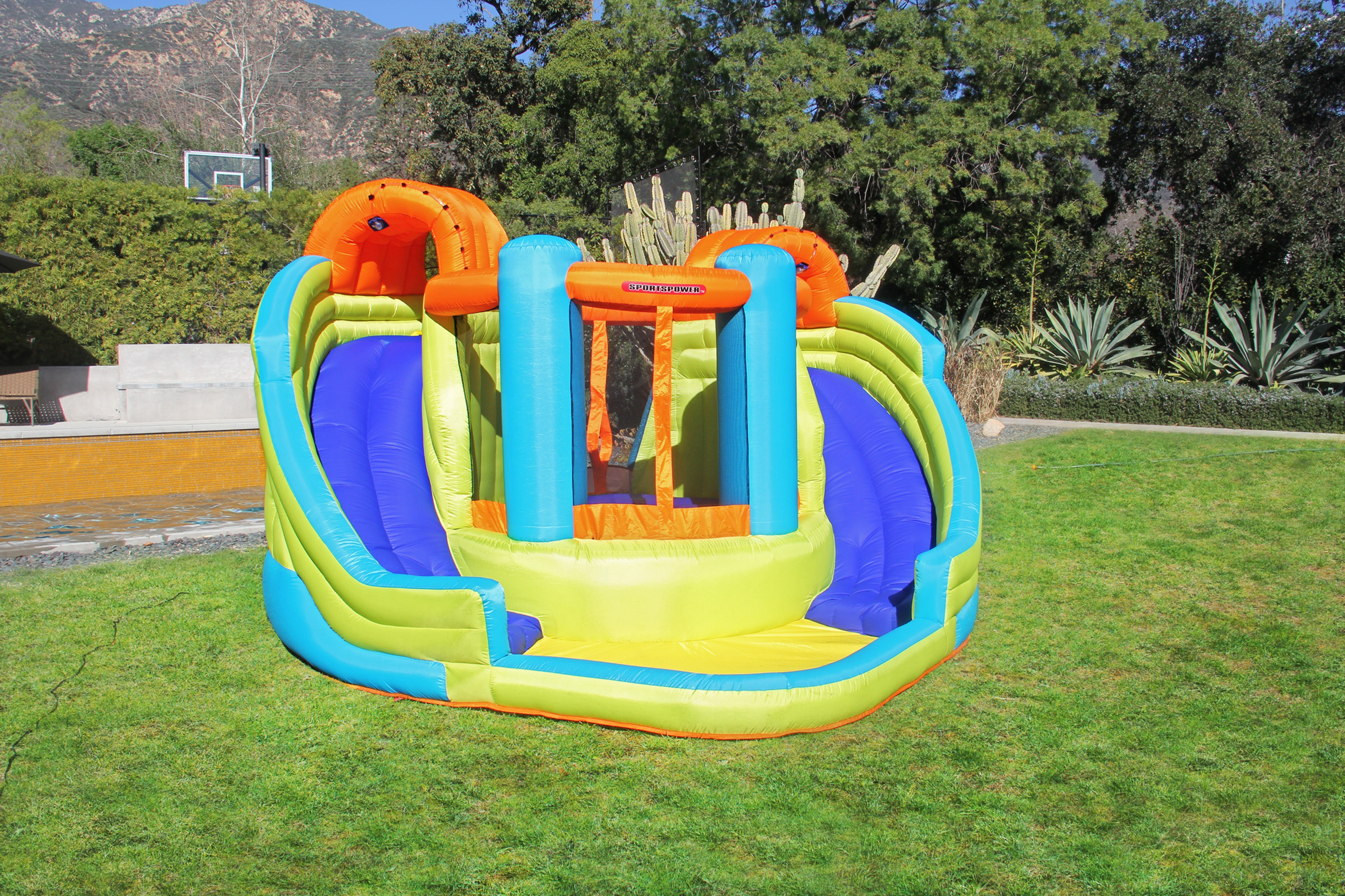 Double Slide And Bounce Inflatable Water Slide Sportspower