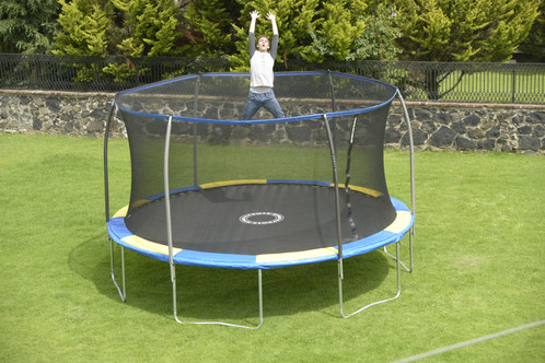 14 Ft Steelflex Trampoline With Flashlight Zone And Pro Enclosure
