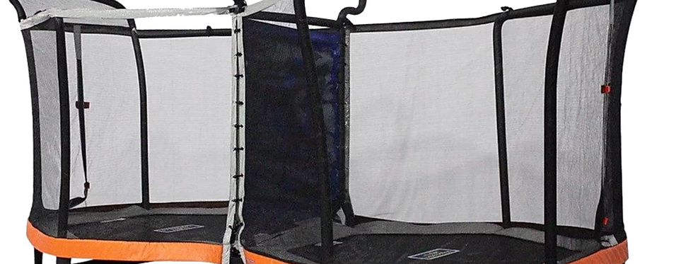 Battlezone Enclosure Trampoline with Vest and Hand Gloves