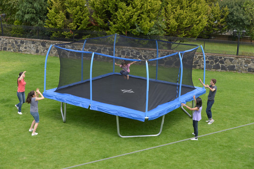 Bouncepro 15 Ft Square Trampoline With Steelflex Safety Enclosure