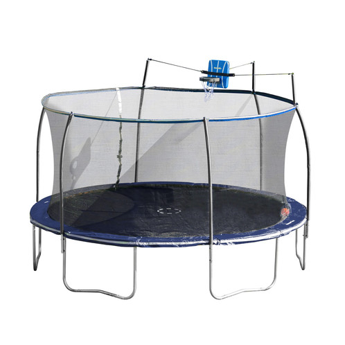 14 Ft Steelflex Trampoline With Pro Enclosure And Fly Slama Jama
