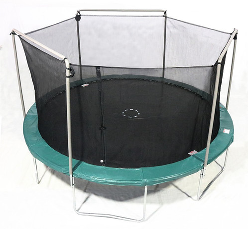 15 Ft Trampoline With Electron Shooter And Net Enclosure