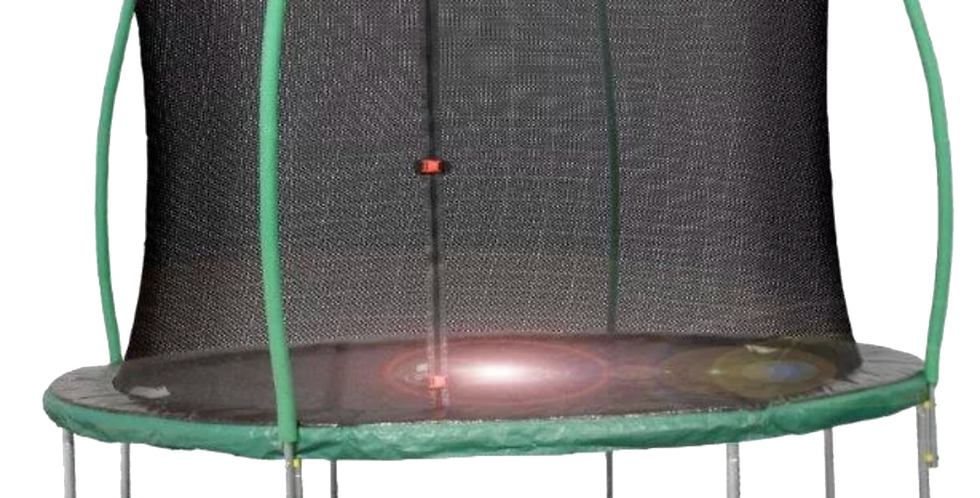 10ft Steelflex Pro Enclosure Trampoline with Flash Litezone