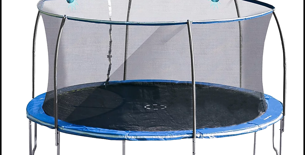 14ft Steelflex Pro Enclosure Trampoline with Electron Shooter