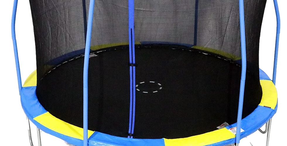 12ft Steelflex Pro Enclosure Trampoline with Flash Litezone