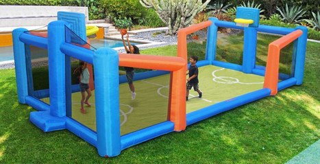 Inflatable Slama Jama Basketball Court