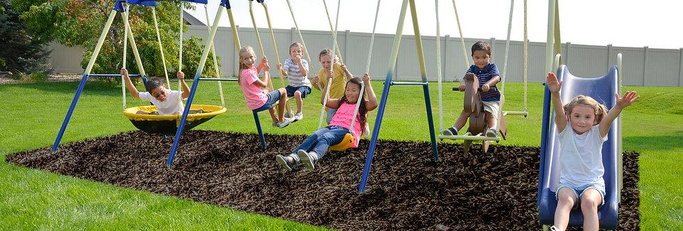 Super 8 Fun Metal Swing Set