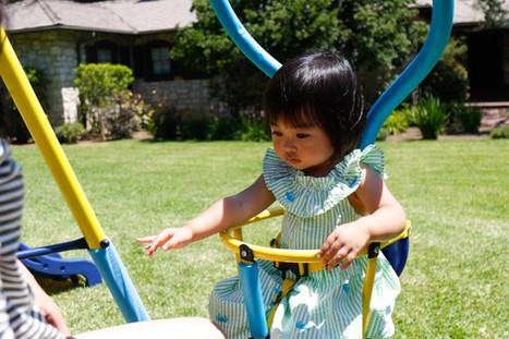 Ridgewood Me and My Toddler Metal Swing Set