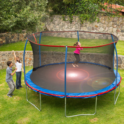 12 Ft Trampoline With Flashlight And Pro Enclosure
