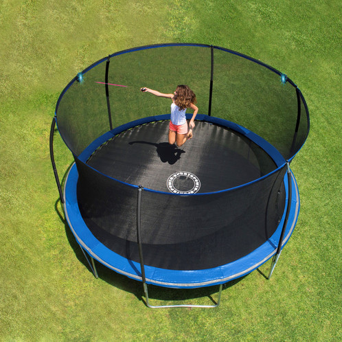 14 Ft Steelflex Trampoline With Electron Shooter And Pro Enclosure