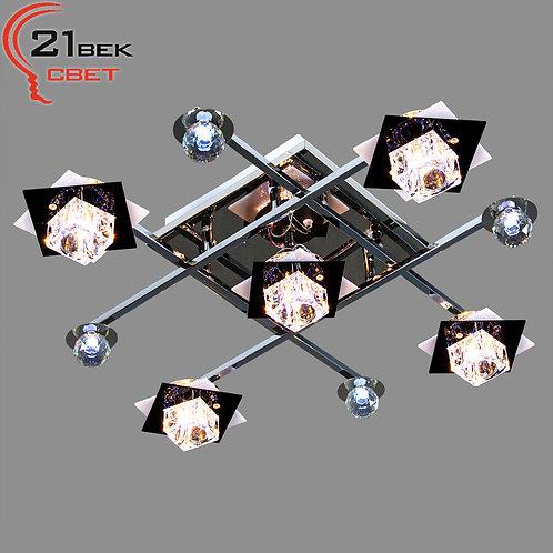 8995/4+1CR+BK (1)  Светильник бытовой потолочный со светодиодной подсветкой и ди