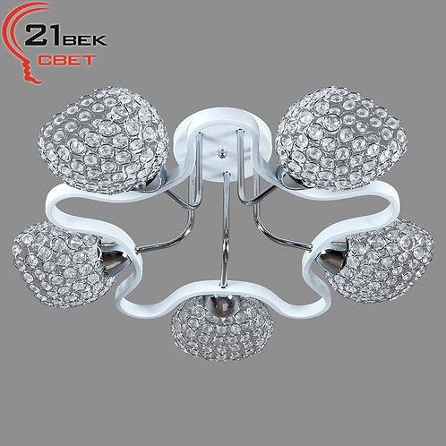 1013P/5WT+CR (2) Светильник потолочный (220V 40W E27)