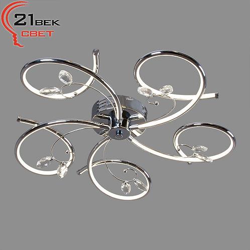 9124/5 (1) Светильник бытовой потолочный (светодиодная лента 5x15W(75W) 4000K)