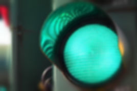 Close up view of green color on the traf