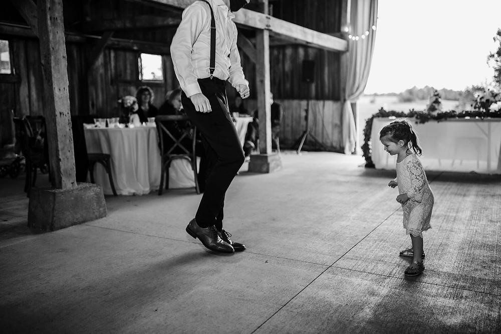 Barn wedding reception